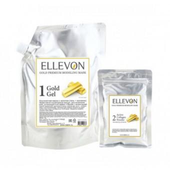 Премиум альгинатная маска с золотом ELLEVON